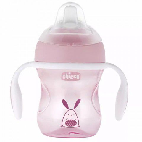 Copo Transition Cup 200ml +4m Rosa Chicco