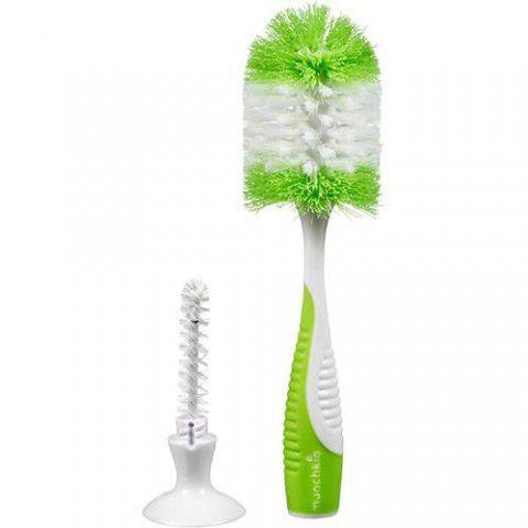 Escova Para Mamadeira C/Ventosa Verde Munchkin