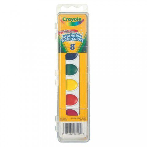 Estojo Tinta Aquarela 8 Cores C/ Pincel Crayola