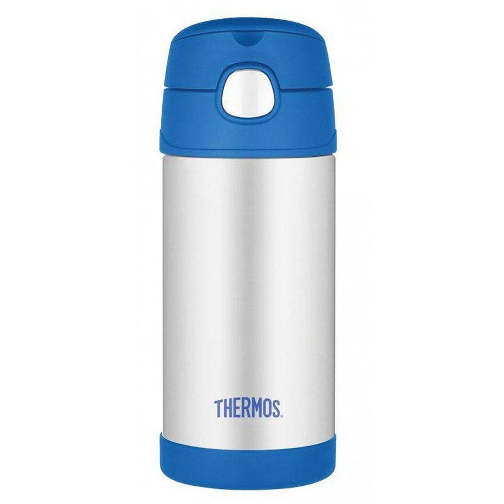 Garrafinha Térmica Funtainer 355ml Azul/Cinza Thermos