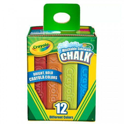 Giz Chalk Para Calçada 12 Cores Crayola