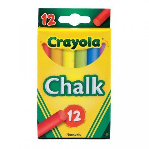 Giz Colorido Para Quadro Negro 12 Cores Crayola