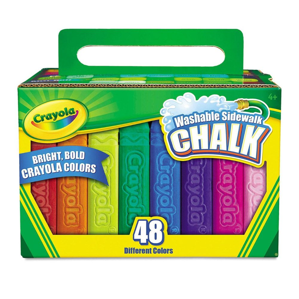 Giz De Calçada Chalk 48 Cores Crayola - Picniqstore com