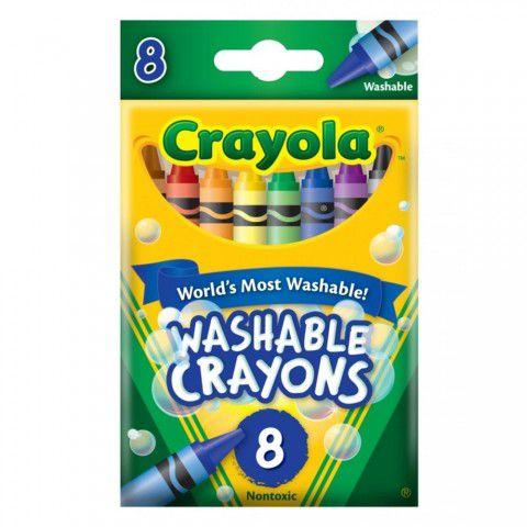 Giz de Cera Lavável 8 Cores Crayola
