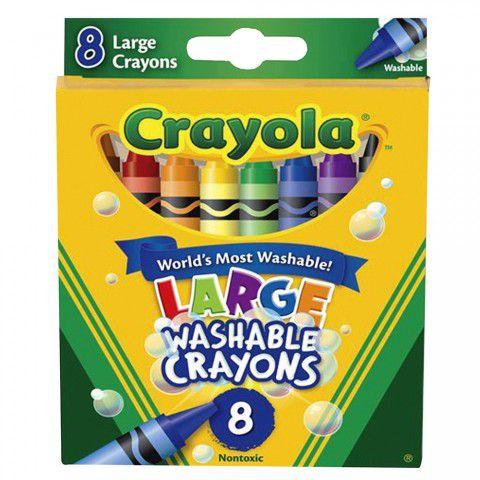Giz de Cera Lavável Grande 8 Cores Crayola
