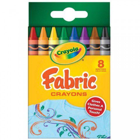 Giz de Cera Para Tecido 8 Cores Crayola