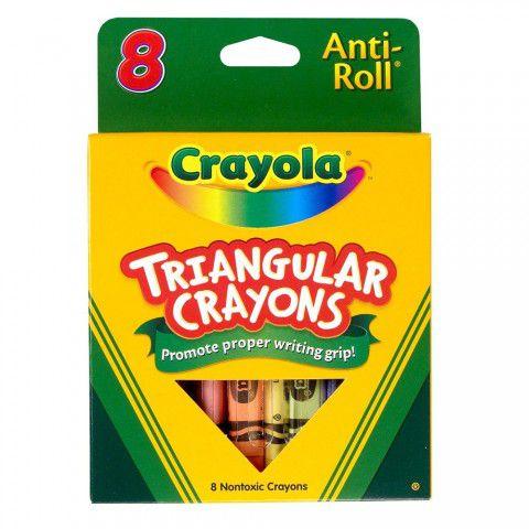 Giz de Cera Triangular 8 Cores Crayola