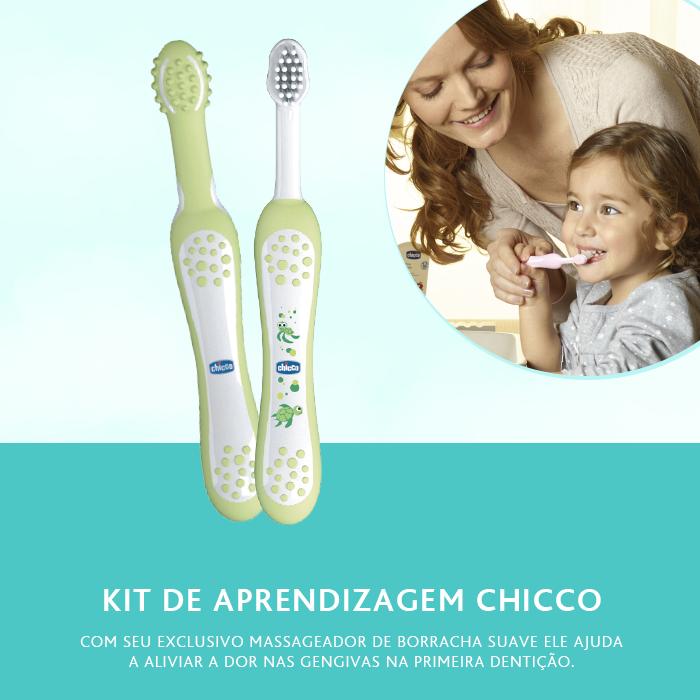 Kit Escova Aprendizagem Dental +4m Chicco