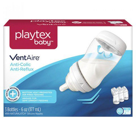 Kit 3 Mamadeira Ventaire 177ml +0meses Playtex