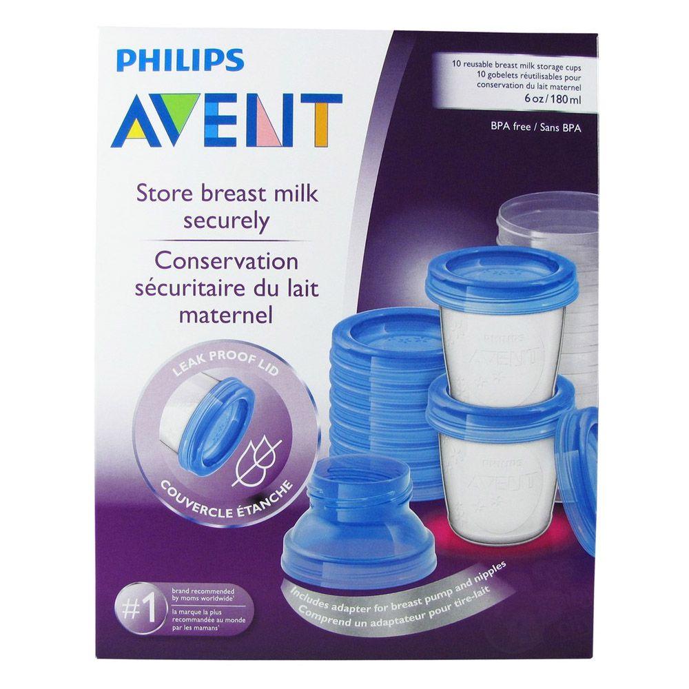 Kit Potes Armazenamento 180ml C/10 Philips Avent
