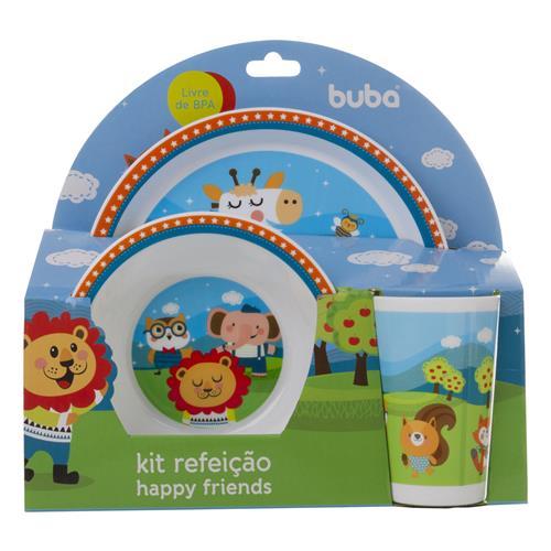 Kit Refeição Happy Friends 3peças Buba