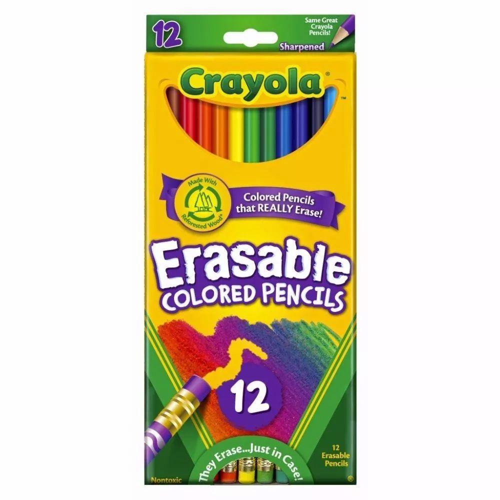 Lápis de Cor Apagável 12 Cores Crayola