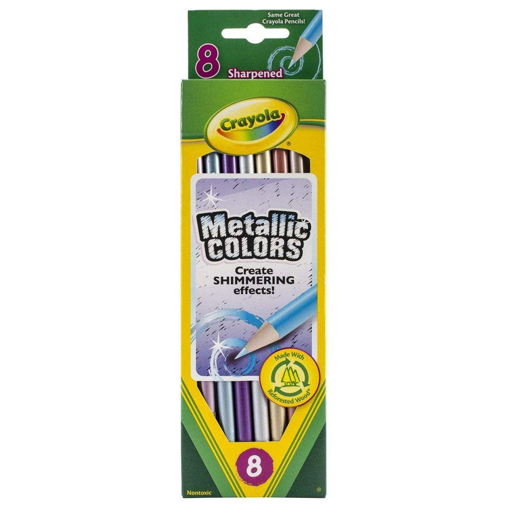 Lápis De Cor Metálico 8 Cores Crayola