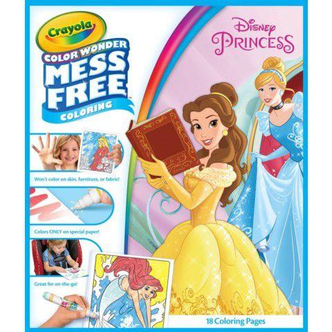 Livro de Colorir Color Wonder Princesas Crayola