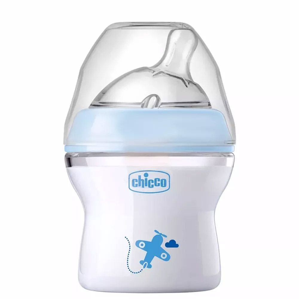 Mamadeira New Step Up 150ml +0meses Azul Chicco
