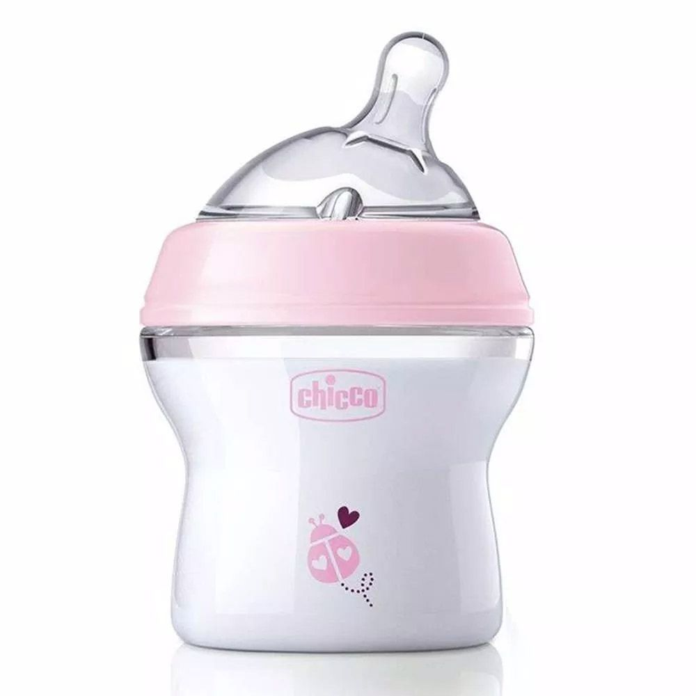 Mamadeira New Step Up 150ml +0meses Rosa Chicco