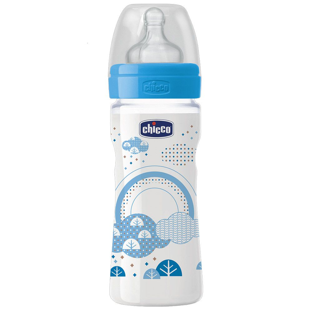 Mamadeira Well-being 250ml +2meses Azul Chicco