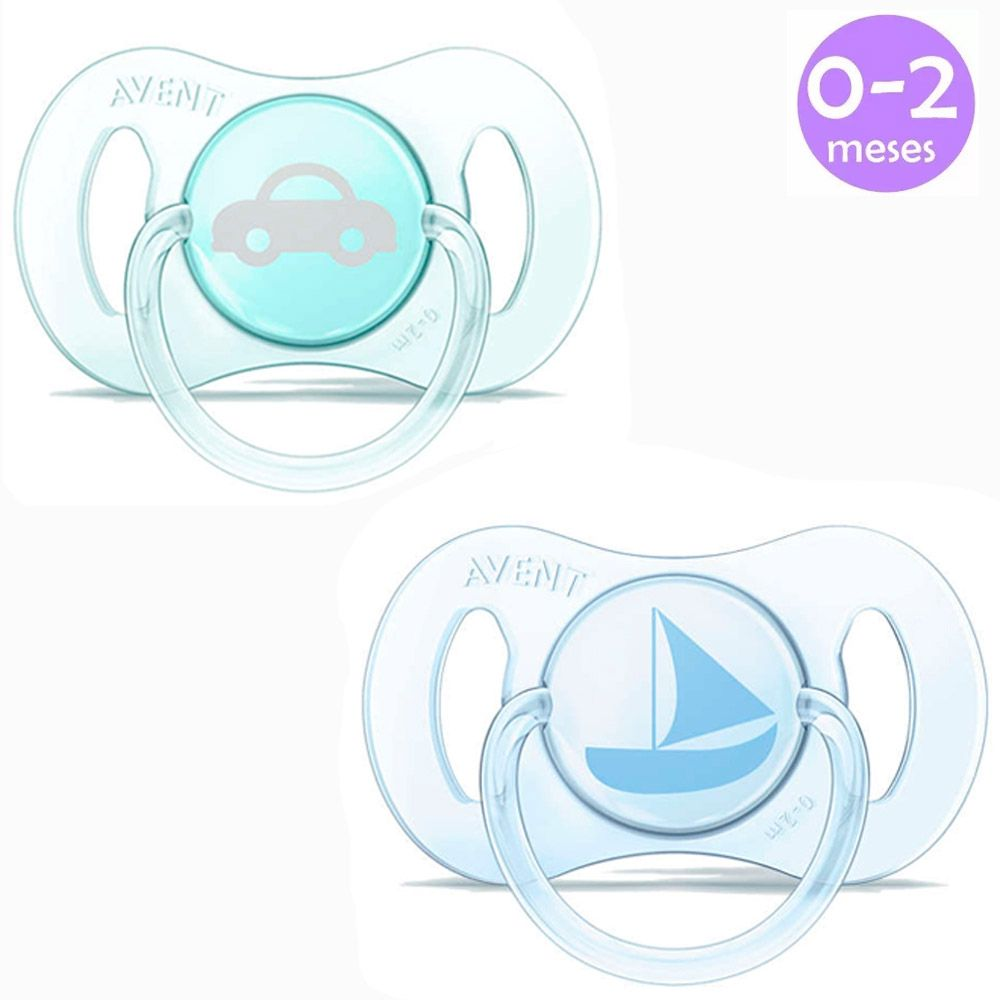 Mini Chupeta 0-2m Azul c/2 Philips Avent