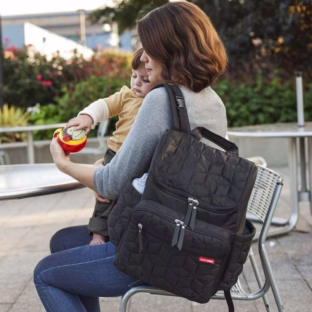 Mochila Maternidade Backpack Black Skip Hop