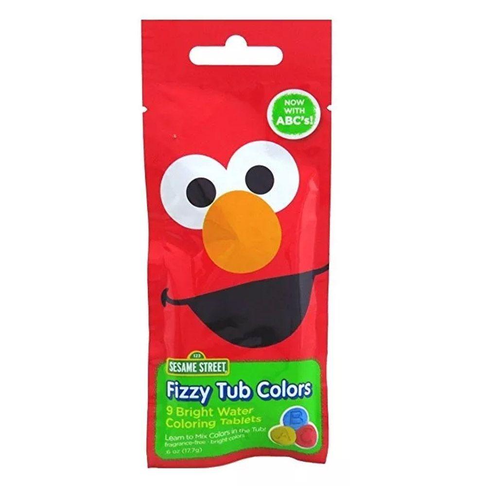 Pastilha de Banho Para Colorir Água 9 Tablets Vila Sesamo