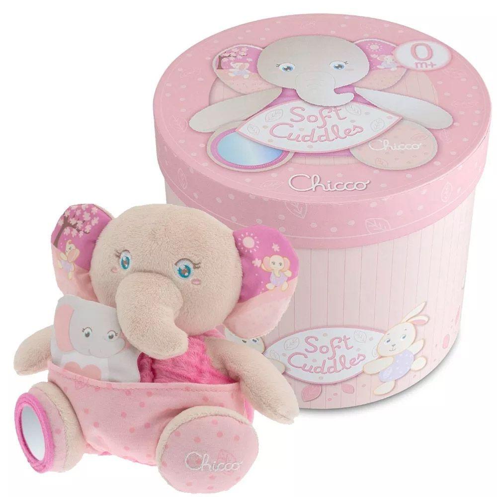 Pelúcia Mamãe Elefante Rosa Chicco