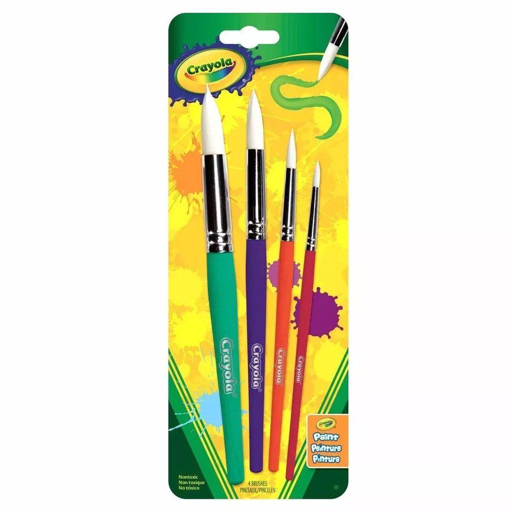 Pincéis c/4und Crayola