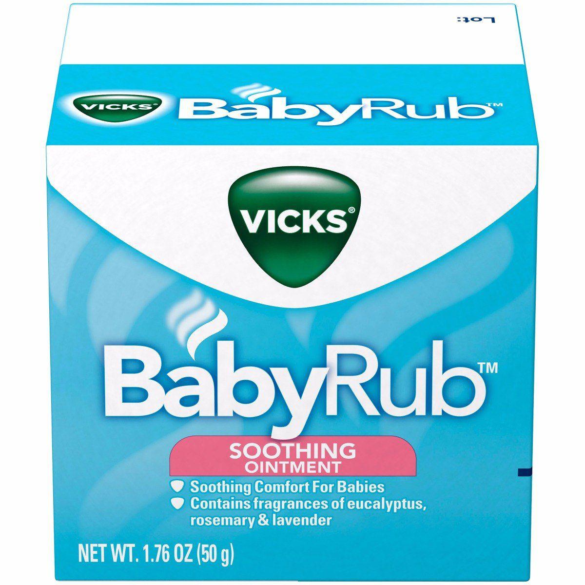 Pomada Vicks Babyrub +3meses 50g