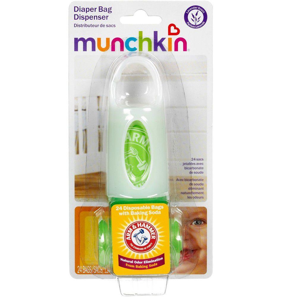 Porta Saquinhos Perfumados Para Fraldas C/24 Munchkin