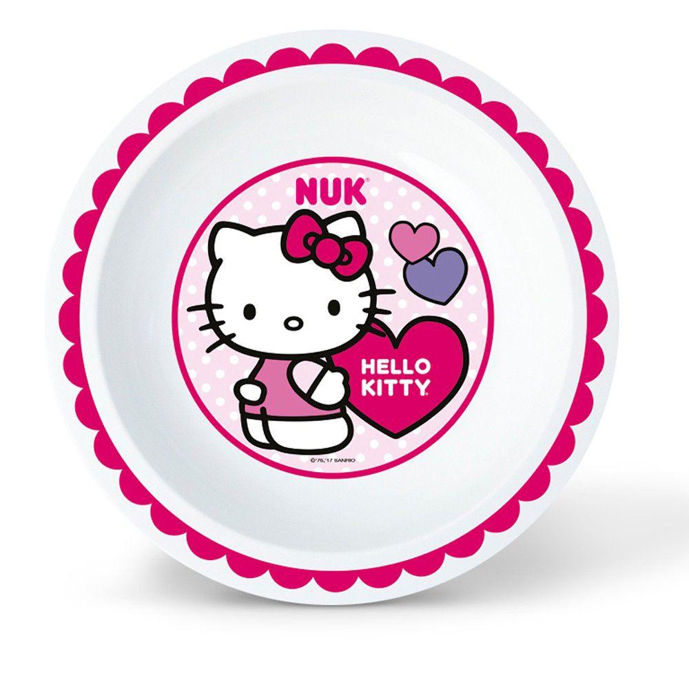 Prato Fundo de Aprendizagem Hello Kitty Nuk