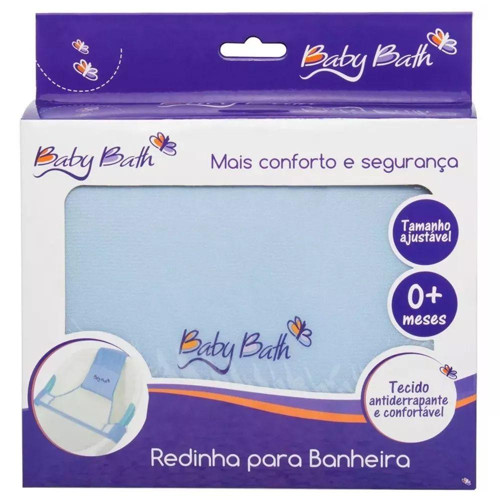 Redinha Para Banheira Azul Baby Bath