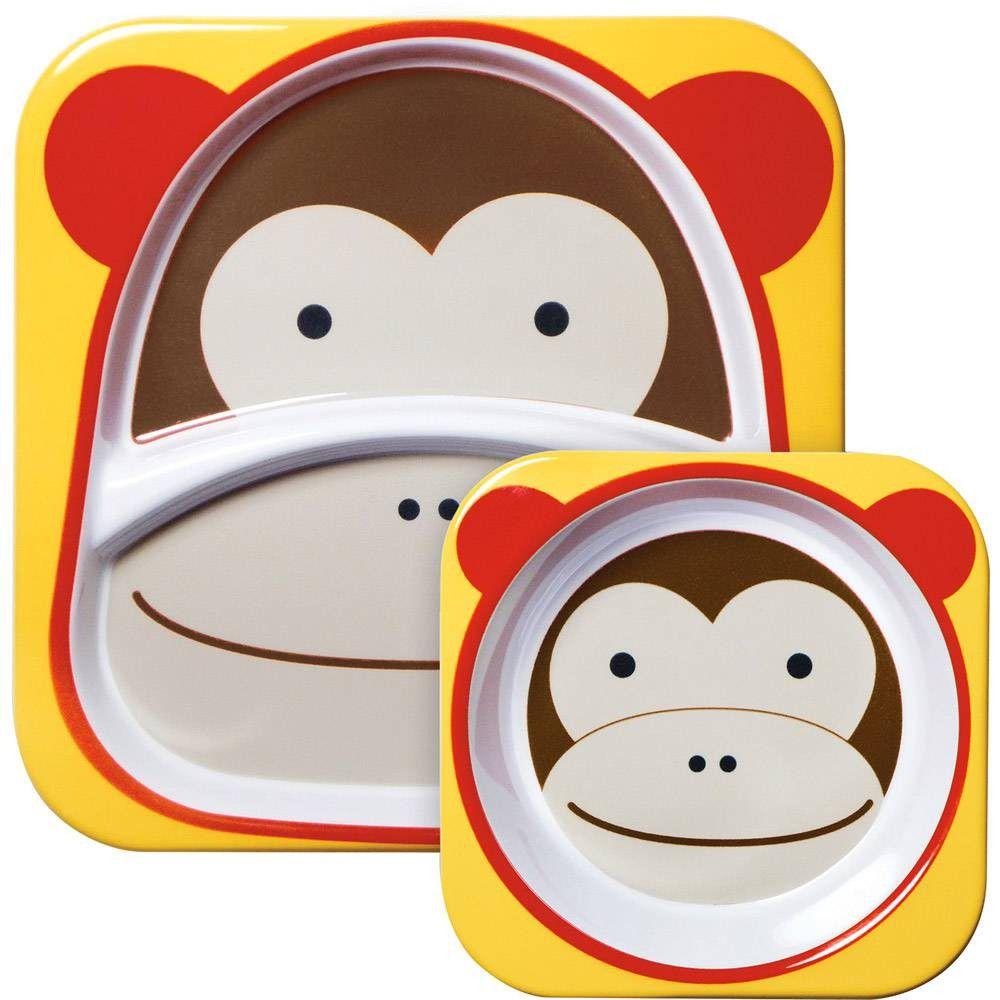 Set De Pratos Macaco Skip Hop