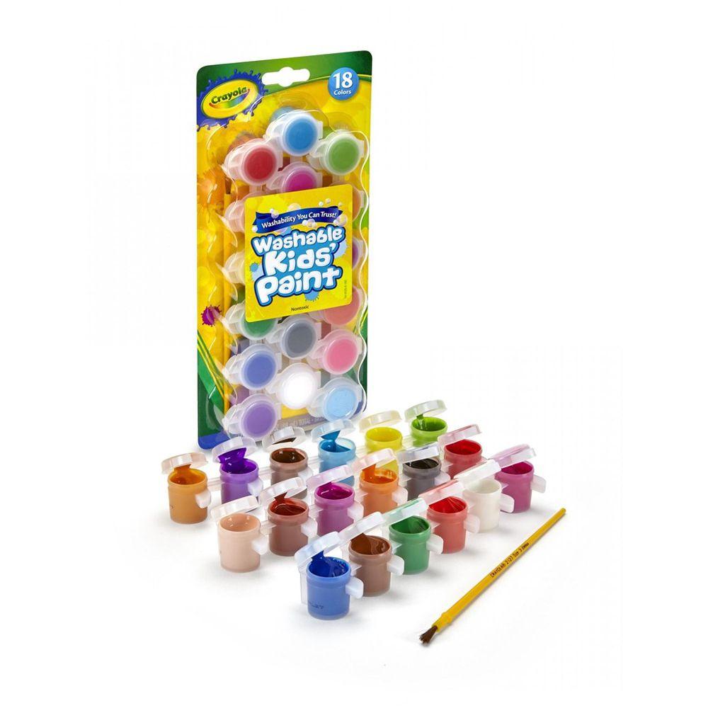 Tinta Guache Lavável 18 Cores C/Pincel Crayola