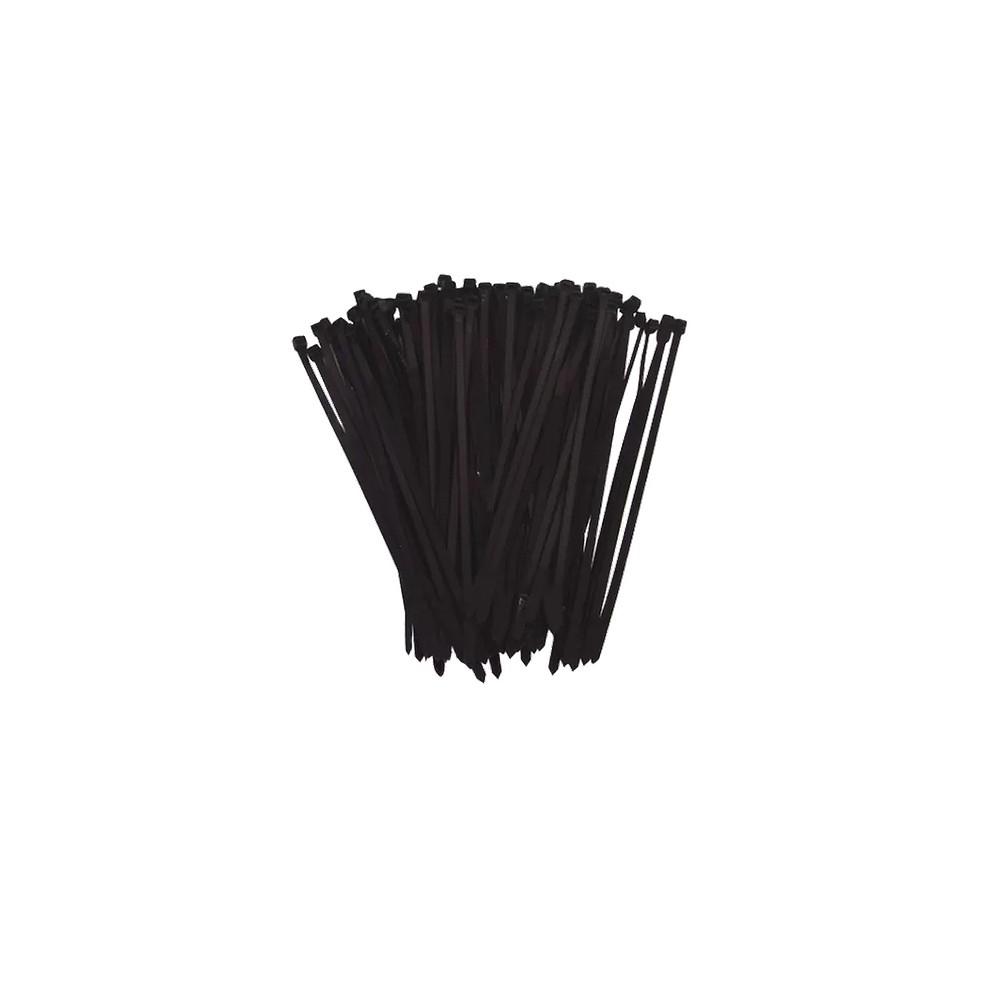 Abraçadeiras de Nylon 1000 Peças Lacre Pretas 3,6mmx150mm