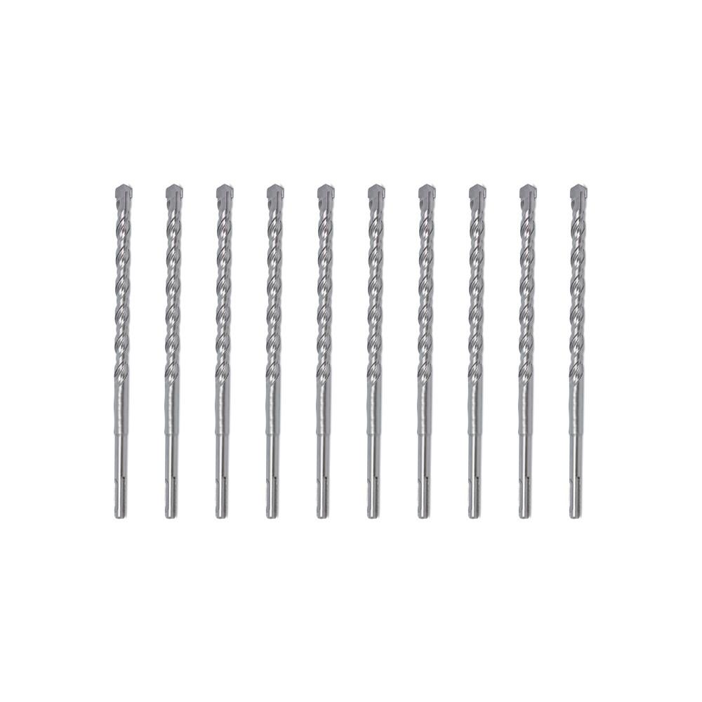 Brocas SDS Plus Concreto 6 x 110MM Encaixe Rápido 10 Peças