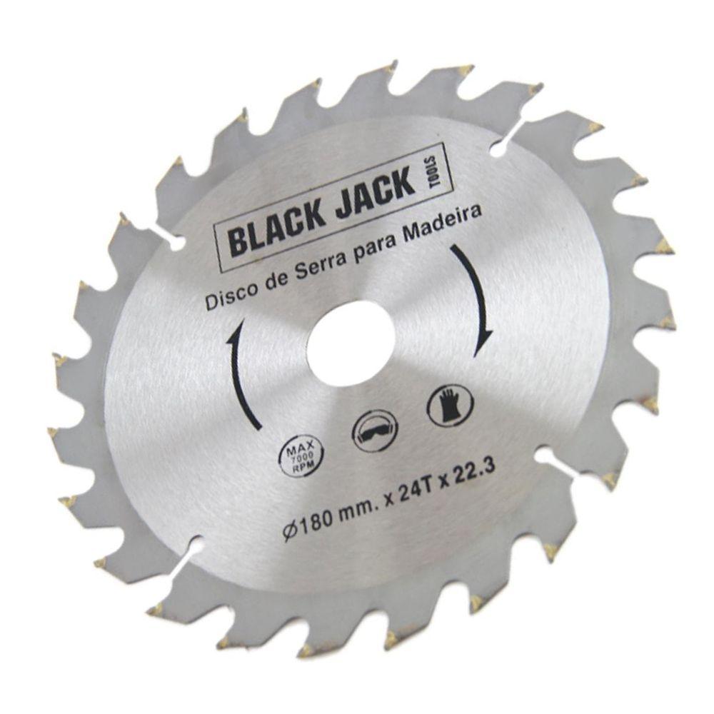 10 Disco de Serra Circular Madeira Vídea 180mm 24d Black Jack