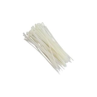 1000 Abraçadeiras de Nylon para Lacre Brancas 3,6mmx200mm