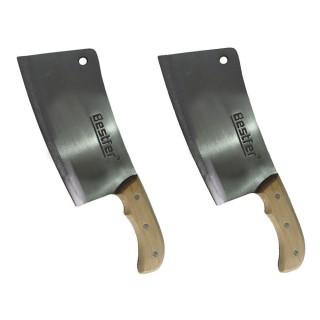 Cutelo Tipo Artesanal Manganês 8,5 Pol Full Tang 2 Peças