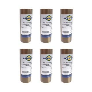 30 Fitas Adesivas Marrom para Embalagem e Uso Geral 48mmx45m