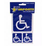 3 Adesivos Sinalizadores De Aviso Deficientes Cadeirantes