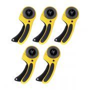 5 Cortador Circular Manual Profissional 60mm Para Papel, Vinil