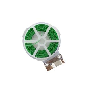 Arame Plastificado Carretel Verde 30m Com Cortador Western