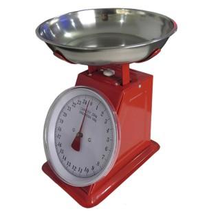 Balança de Cozinha Profissional 25Kg Inox Vermelha Bestfer