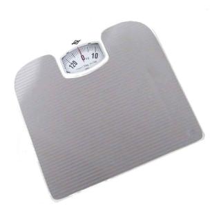 Balança Pessoal Para Banheiro Mecânica Cinza 130Kg Com Visor Analógica Peso Certo