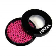 Blush Ball Em Pó Com Estojo Bolinhas Rosa Make Up Fenzza