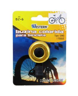 Buzina Colorida Para Bicicleta Bike Western 35 Mm