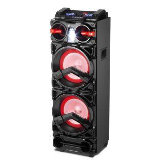 Caixa de Som Amplificada Bluetooth 1000W Bivolt Led Lenoxx