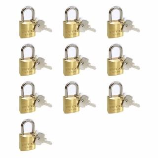Conjunto com 10 Cadeados de Latão Pado LT-25mm