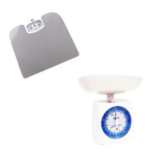 Conjunto de Balanças Mecânicas para Banheiro e Cozinha