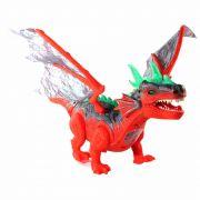 Brinquedo Dragão Dinossauro Eletrônico Com Luz Som À Pilha