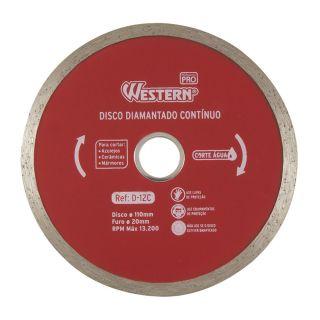 Disco Diamantado Contínuo 110mm 20mm Corte Água